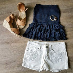 Hollister strapless mock lace top